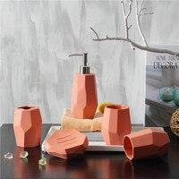 Скандинавский стиль простой керамический набор из шести предметов свадебные подарки принадлежности для ванной комнаты чашка + держатель д