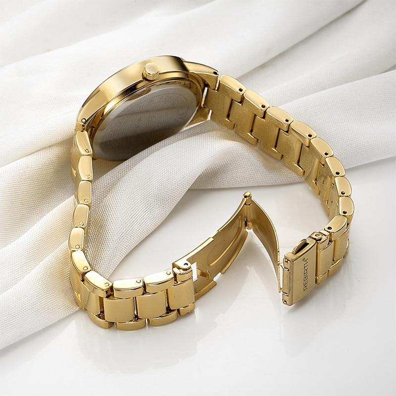 ODRODZENIE Top Brand Luxury Gold Strap Bransoletka kobiety zegarki - Zegarki damskie - Zdjęcie 4