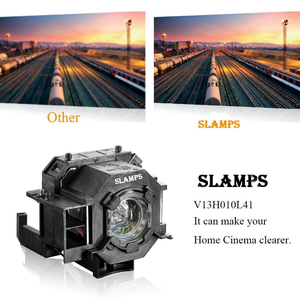 Consumer Electronics ... Home Audio & Video Equipments ... 32815067538 ... 4 ... Compatible EMP-S5 EMP-S52 EMP-T5 EMP-X5 EMP-X52 EMP-S6 EMP-X6 EMP-260 EB-S6 EB-S6+ Projector  lamp ELPL41 V13H010L41 for Epson ...