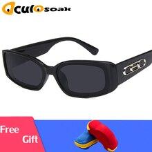 Small Rectangle Sunglasses Women 2019 Brand Design Vintage Sun glasses For Men Eyewear UV400 oculos Gafas De Sol With Box top fashion 2017 vintage rectangle polarized sunglasses gafas oculos de sol brand sun glasses for women men occhiali da sole