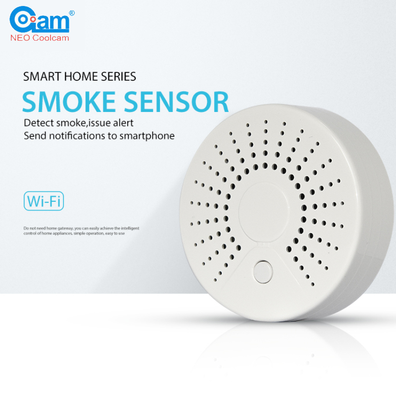 WiFi Smart Smoke Detector Wireless Fire Smoke Sensor Temperature Detector For Home Security Alarm System APP Control