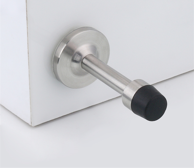 Free Door Has Blocked The Bathroom Door Glass Door Stopper Stainless
