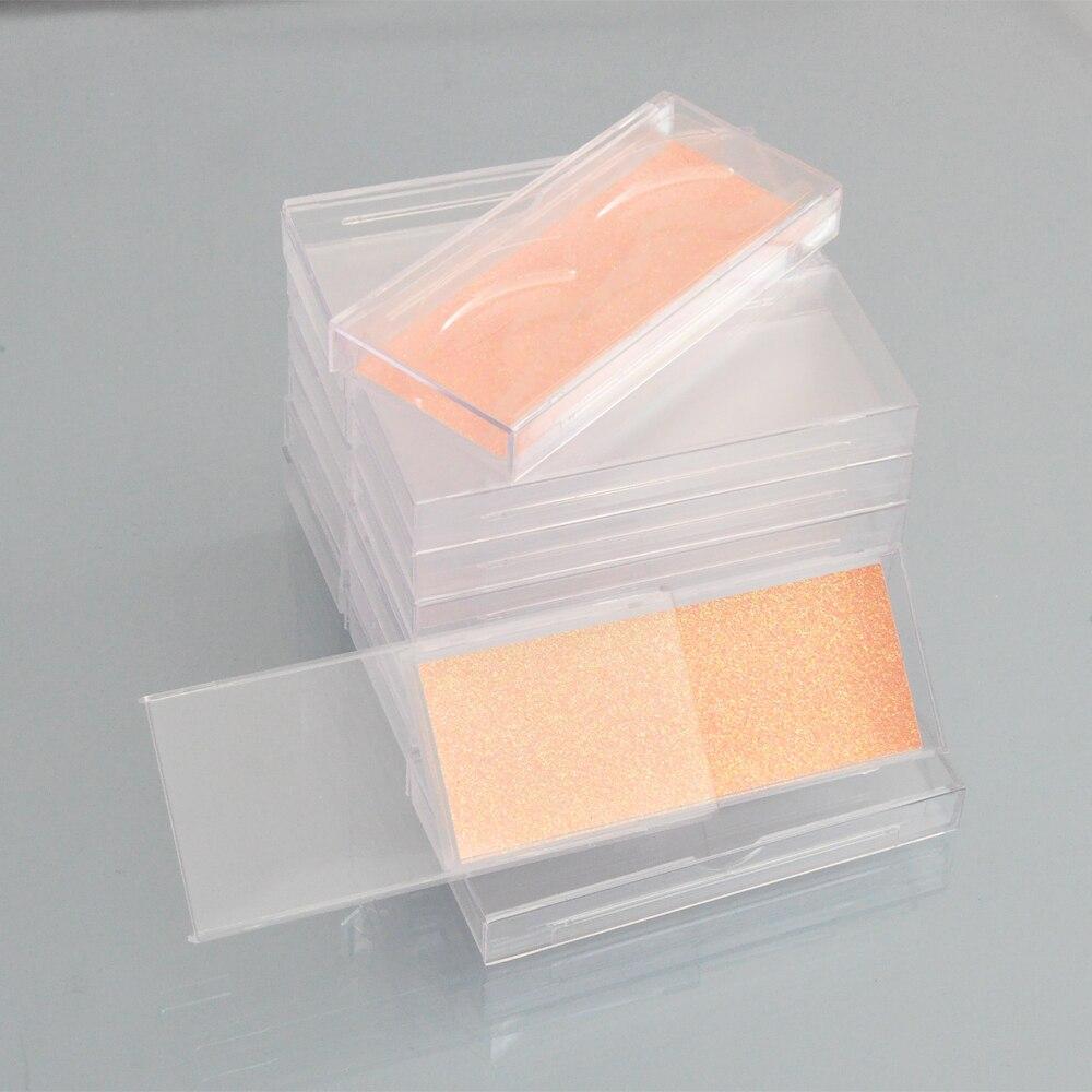 Image 5 - 400pcs Wholesale Acrylic False Eyelashes Packaging Box custom logo Fake 3d Mink lashes Box Faux Cils transparent plastic caseFalse Eyelashes   -