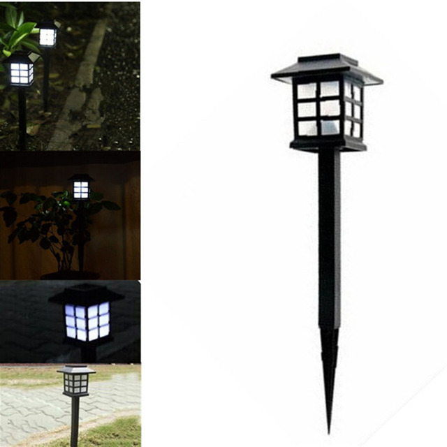 Tamproad 4 Pcs Waterproof Cottage Style Led Solar Garden Light Outdoor Path Road Lawn Post