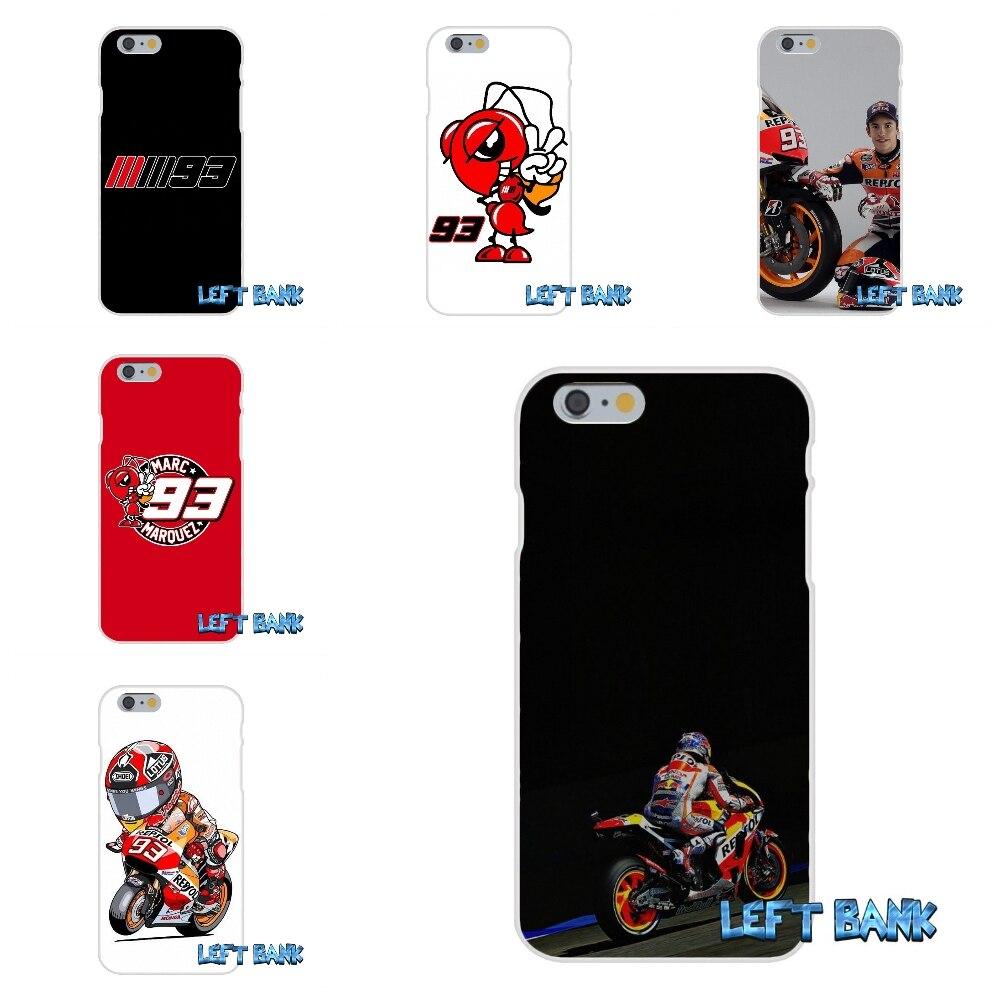 Marc Marquez Moto Gp 93 Soft Silicone TPU Transparent Cover Case For iPhone 4 4S 5 5S 5C SE 6 6S 7 Plus