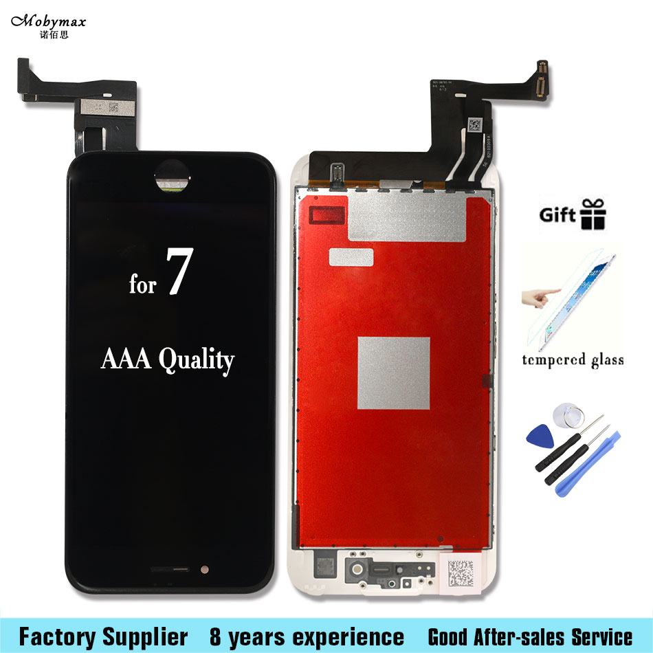 Mobymax Top Quality AAA LCD For iPhone 7 7g 7 Plus Ecran Display With Touch Digitizer Assembly Cold Glue Free Shipping with gift