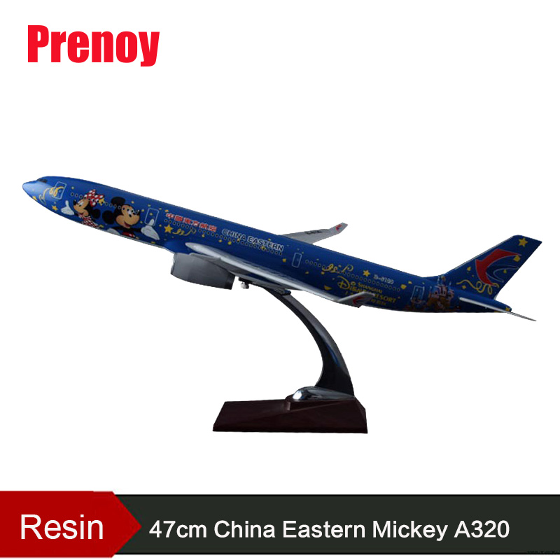 47cm A320 Resin Aircraft Model China Eastern Airlines Airbus Aircraft Model Eastern Mickey Model Aviation Stand Craft Model Toys phoenix 10951 china international aviation b 2499 1 400 b767 300er commercial jetliners plane model hobby