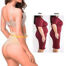 2019 las nuevas mujeres de cintura alta entrenador barriga de adelgazamiento  Cincher de la cintura cuerpo Shaper Tanga trasero c. 9f15278bcdb3