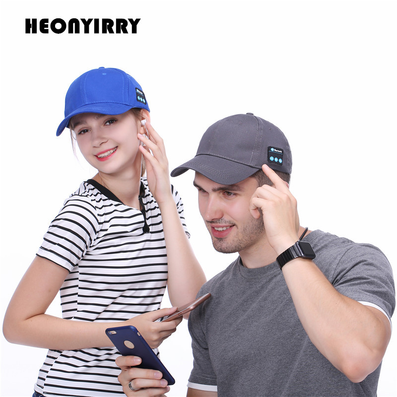 Men Women Bluetooth Headphone Cap Wireless Sports Earphone Hat Bluetooth V4.1 Music Hat Cap Speaker Earphones Baseball Hats fashion letter label embellished shinning pu baseball cap for men and women