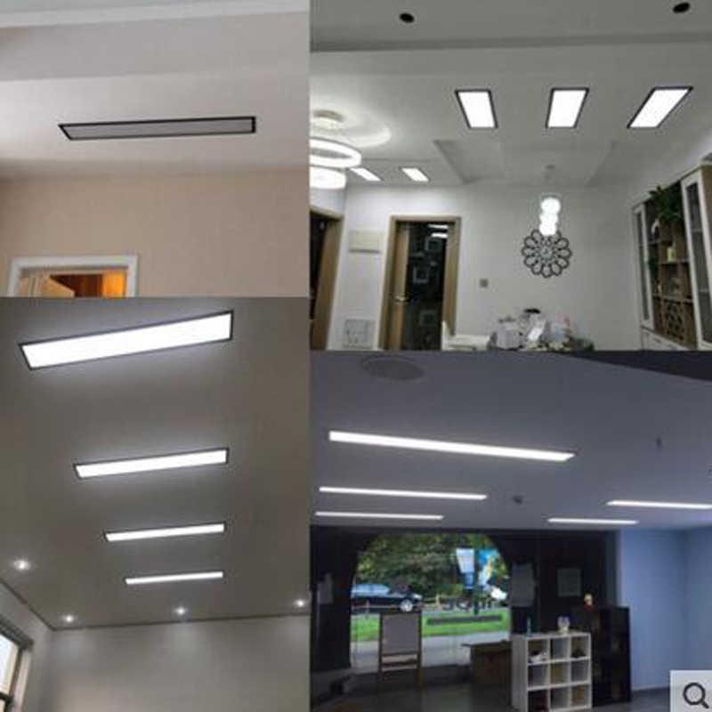 de techo led rectangular para Tira iluminación ocultas oficina de de empotrada luz lámpara luz para lámparas led de balcón corredor porche accesorio 54RLAj