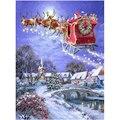 Алмазная вышивка крестиком, праздничные узоры «Рождественский Санта», полноразмерная Алмазная 5D картина «сделай сам» стразы, мозаичное ук...