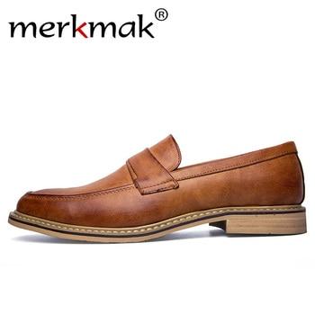 on sale 22b02 26102 Merkmak-estilo-italiano-hechos-a-mano-vestido-de-los-hombres-mocasines-de -cuero-de-microfibra-Formal.jpg 350x350.jpg