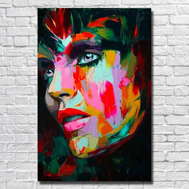 Abstract  Face  Painting on Canvas  Living Room Wall Decor   Portrait Art  Artist Oil Painting Wholesale for Sale   No framed