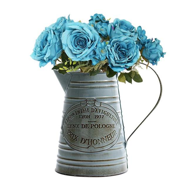 Vintage Metal Flower Vase Basket Mawgie