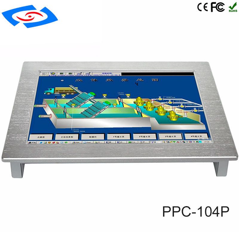 2018 New Version 10.4 Inch Touch Screen Industrial Rugged Computers With Industrial Monitors 2xLAN For Factory Automation Tablet