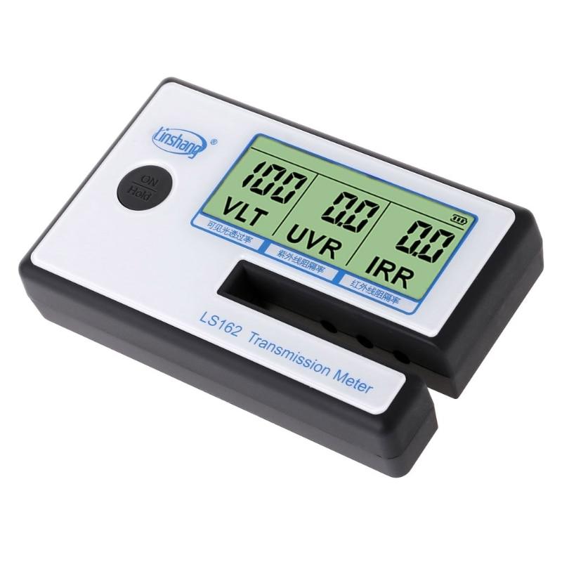 LS162 Window Tint Meter Solar Film Transmission Meter VLT UV IR Rejection Tester Tool