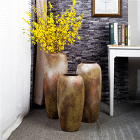 The gradient bubble glaze of large vase High temperature ceramic flowers Flower art craft store don't ooze water flowers