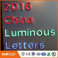 Lighted Alphabet Letter Sign Frontlit And Backlit Led Channel Letter Sign Light Up Letters For Sign