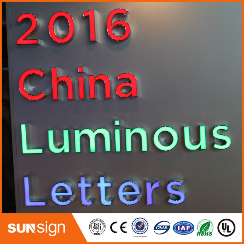 Lighted Alphabet Letter Sign,frontlit And Backlit Led Channel Letter Sign,light Up Letters For Sign