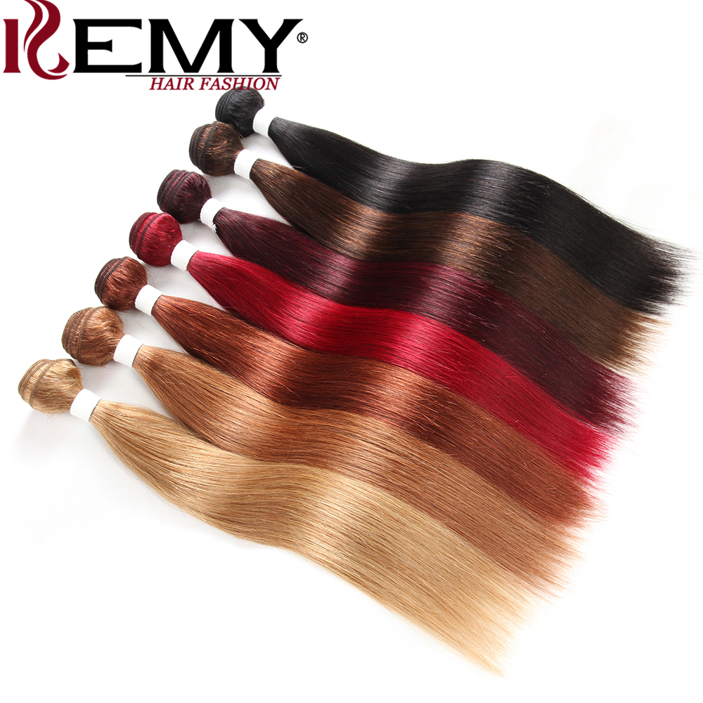 KEMY HAIR FASHION Brazilian Hair Weave Bundles 8 to 26 Inch Non-Remy Straight Human Hair ...