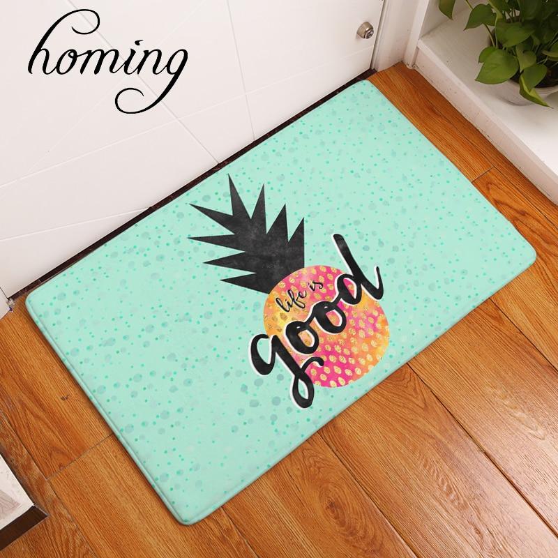 Pineapple Kitchen Rugs: Homing Welcome Home Hallway Anti Slip Mat Front Door