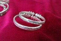 Guizhou Yunnan Ethnic Jewelry Miao Ethnic Jewelry Handmade Miao Silver Bracelet Fine handmade nail nail bracelet