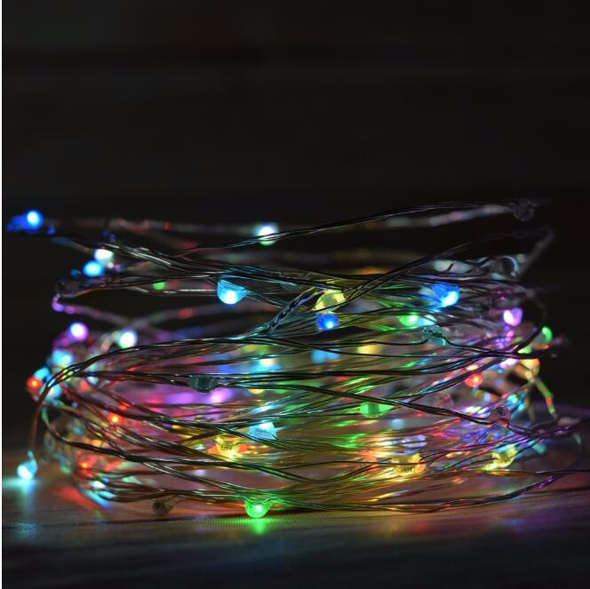 Aliexpress Com Waterproof Timer 33ft 10m Aa Battery Powered 100 Led Copper Wire String Fairy Light Lamp Garden Lobby Corridor Outdoor Living From