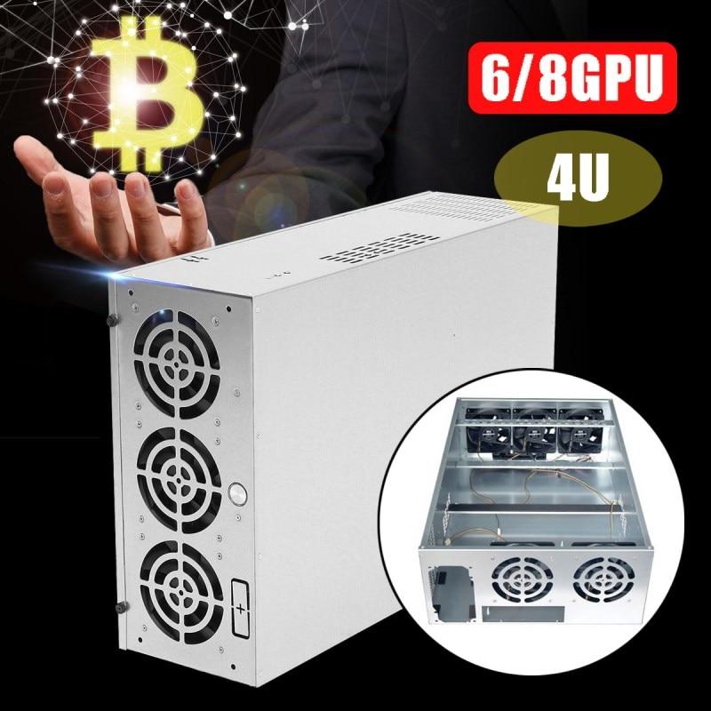 все цены на 4U Mining Machine Mining With Fan Frame Rig Graphics Case ATX Mining Machine For 6/8GPU Power Supply онлайн