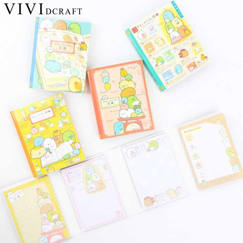 Vividcraft 1pc Cute Animals Funny World Sticky Notes Kawaii Post Nota De Papel Stickers Scrapbooking Korea Stationery