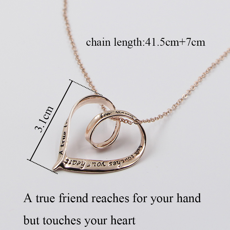 Hollow heart letters engraved pendant necklace rose gold color hollow heart letters engraved pendant necklace rose gold color fashion choker necklace for women ladies christmas birthday gift in pendant necklaces from aloadofball Choice Image