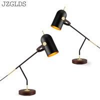 Современные светодиодные настольные лампы железные качели руки индивидуальный светильник Гостиная прикроватная тумбочка для спальни офи