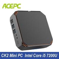 CK2 Intel Core i5 Mini PC DDR4 Ram Win10 Настольный ПК Kaby Lake Core i5 7200U 2 ядра 4 K 4 нити 2,5 ГГц Linux, Windows игровой ПК