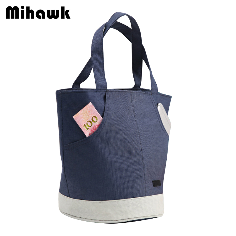 Mihawk Colorblock Insulated Lunch Bag Large Capacity Women Travel Picnic Food Container Tote Cooler Pouch Organizer Supply Stuff