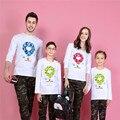 2017 рождество семья посмотрите соответствия мать дочь одежда отец сын наряды новорожденных девочек мальчиков футболка с длинным рукавом плюс размер