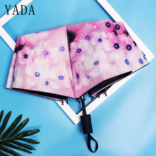 YADA Brand Creative Design Flower Pattern Folding Rainy Umbrella Anti-UV Rainproof Sun Protection Parasol YD045