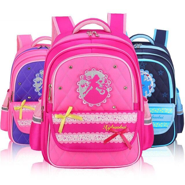2018 Kids Cartoon School Bags Children backpacks Waterproof Nylon girl  school bag Bowknot Printing Backpacks Book d6797e3cf1