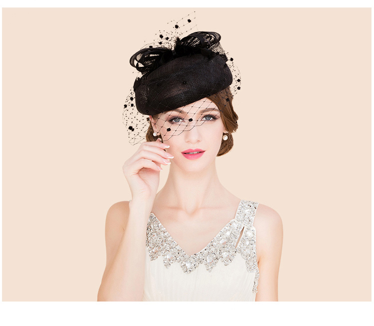 25eee6e014ab3 FS Classic Vintage Women Sinamay Pillbox Hat Church Fascinators ...