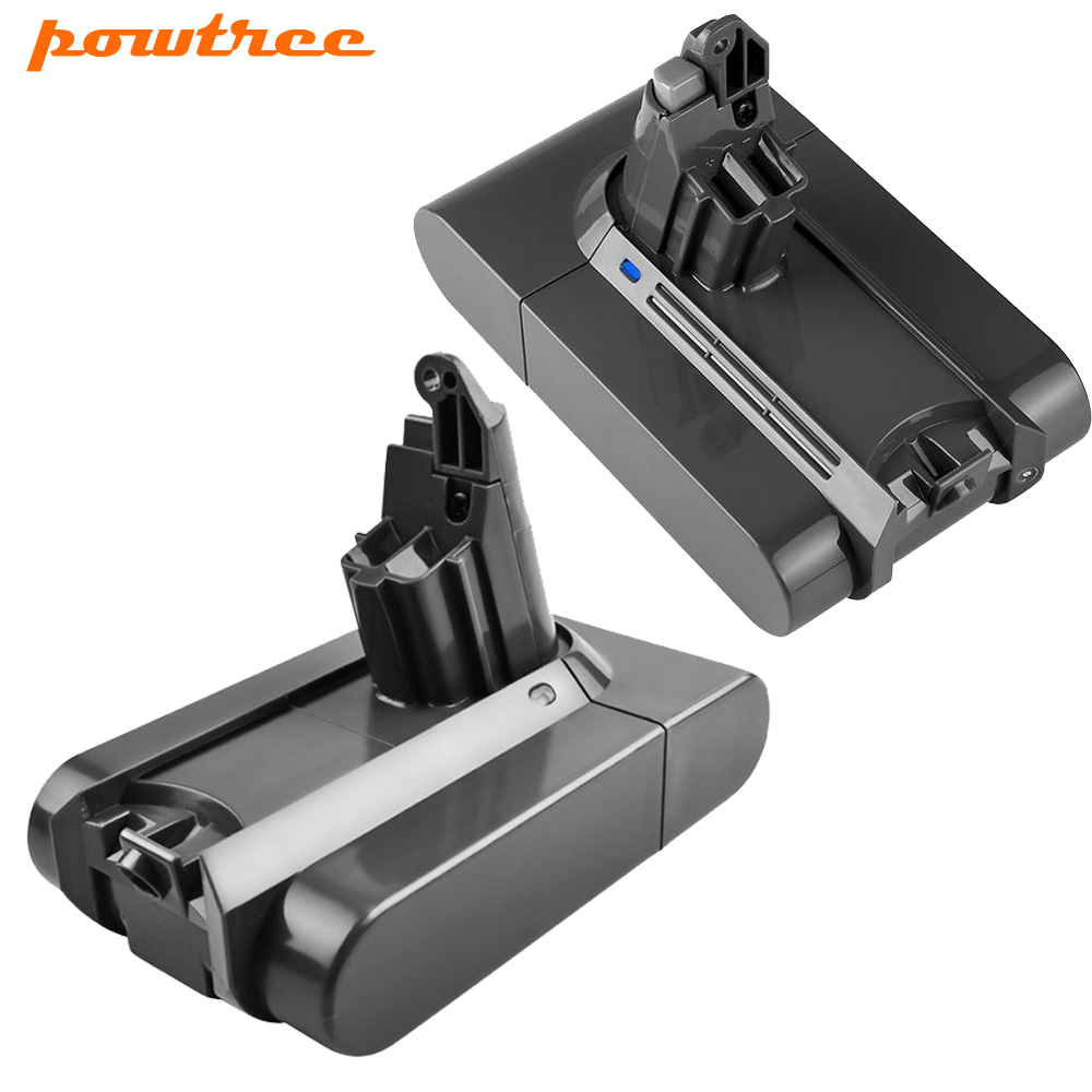 Powtree 21.6V 3000mAh pour Dyson Batterie DC58 V6 Li-ion Batterie Remplacement V6 DC61 DC62 DC72 DC58 DC59 Aspirateur 965874-02