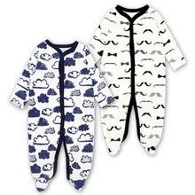 7e747530ec2e1 Nouveau-né bébé filles pieds pyjama pyjama bébé à manches longues barboteuse  combinaison 3-12 mois bébé garçons vêtements