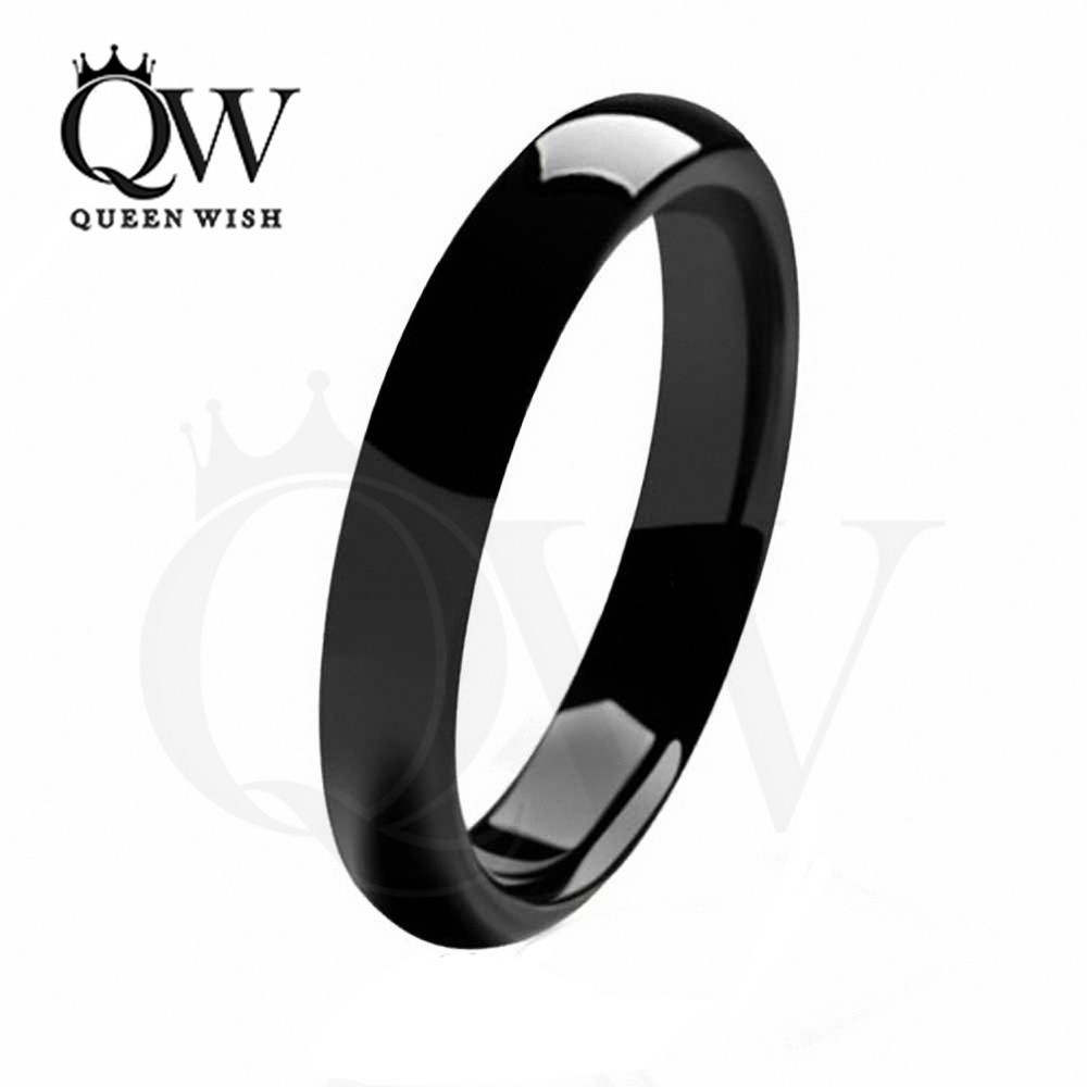 Black Tungsten Rings Wedding Bands For Women Ring Finger Sizes His And Hers Bridal Set