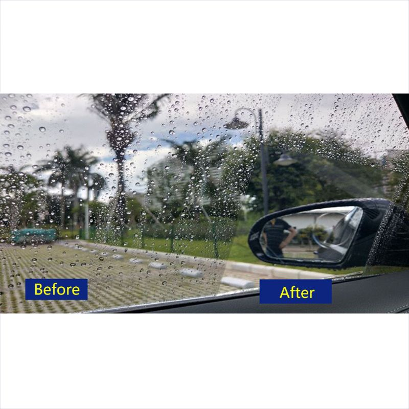 New 1 Pair Auto Car Anti Water Mist Film Anti Fog Coating Rainproof Hydrophobic Rearview Mirror Protective Film 4 Sizes 6