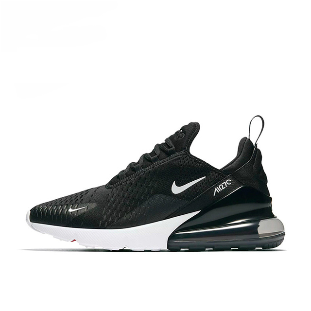 Nike Air Max 270 Men's Running Shoes Non-slip , Black, Shock Absorption Wear Resistant Breathable Lightweight AH8050 002