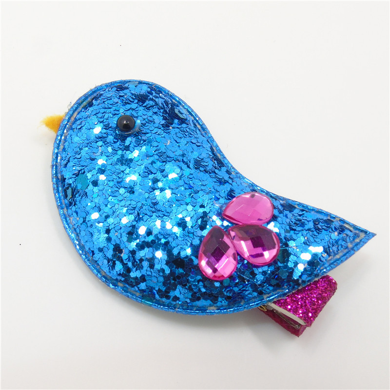 US $18 8 |Wholesale Glitter Bird Hair Clips Sequins Hairpin Cute Animal  Featured Shinny Girl Handmade Hair Clip Cartoon Grips with Crystal-in Hair