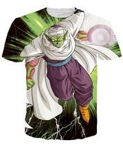 Piccolo Summer 3D Print T shirt Casual Classic Anime Dragon Ball Z Cotton T shirts Roshi