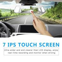 7 IPS Dual Camera Lens Touch Screen Car Dash Cam FHD 1080P Dashboard Camera 170 Degree DVR Recorder G Sensor Parking L1007