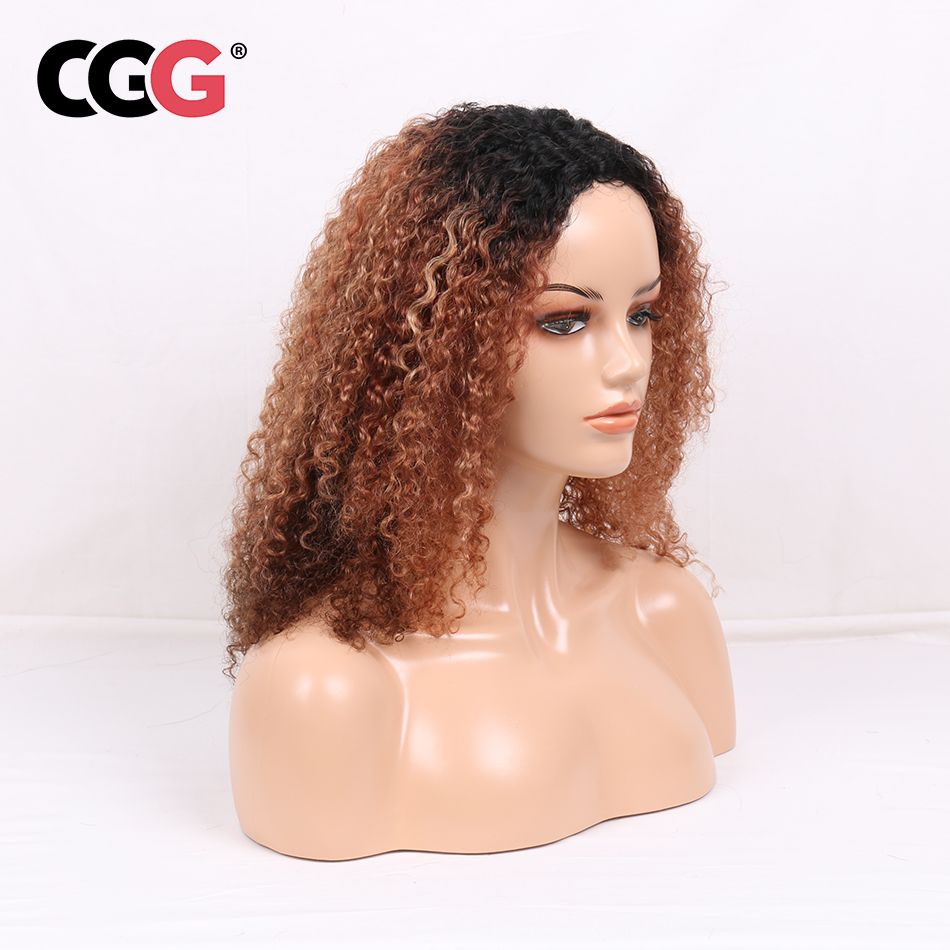 CGG Wig Human-Hair-Wigs Afro Curly Kinky Malaysian Lace Long Black-Women for Fluffy Soft