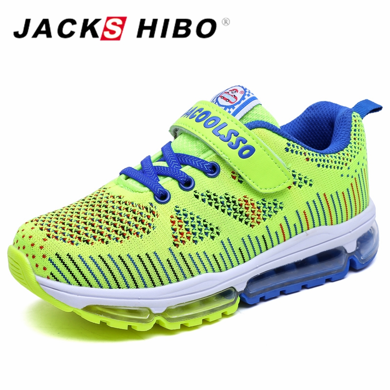 JACKSHIBO New Kid Sneaker Sports Casual Shoes Girl Fly Line Shoes Kid Outdoor Running Sneakers Breatherable Light Child Shoes