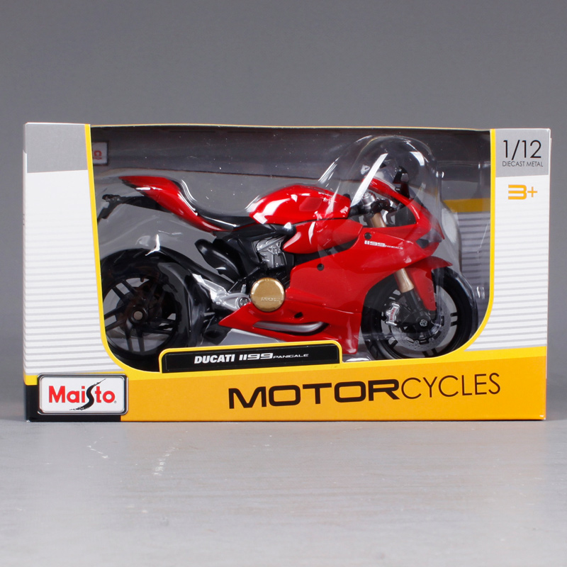 Купить с кэшбэком Maisto 1:12 Red Ducati 1199 Panigale MOTORCYCLE BIKE Model FREE SHIPPING 11108