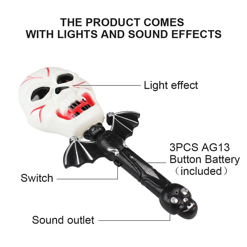 US $4 89 30% OFF|New Glowing Creavite Pumpkin Witch Ghost Screaming Magic  Wand With Sound Halloween Cosplay Props Magic Tricks Kids Toy Gift-in Magic