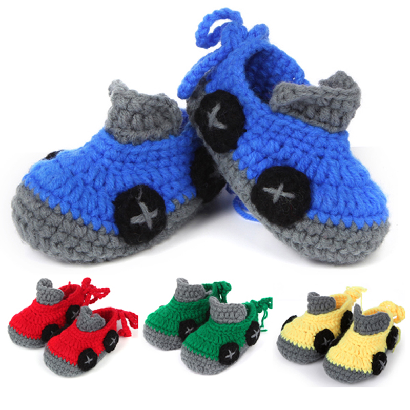 Baratos Patrón de ganchillo Zapatos de Bebé Botines Recién Nacido ...